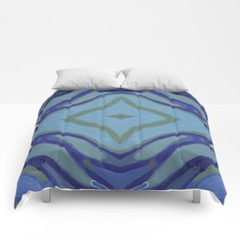 Blue Wave Nautical Medallion Comforters