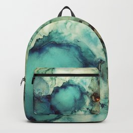 Teal Abstract Backpack
