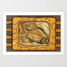 Fossil fish Art Print