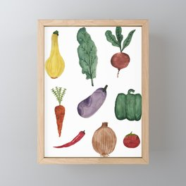Vegetables Framed Mini Art Print