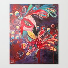Peacock Love. Canvas Print