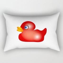 Red Rubber Duck Toy Rectangular Pillow