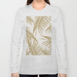 Gold Palm Leaves Dream #1 #tropical #decor #art #society6 Long Sleeve T-shirt