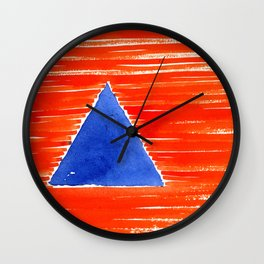 orange desert Wall Clock
