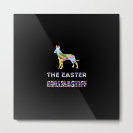 Bullmastiff gifts | Easter gifts | Easter decorations | Easter Bunny | Spring decor Metal Print