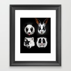 Kiss of animals Framed Art Print