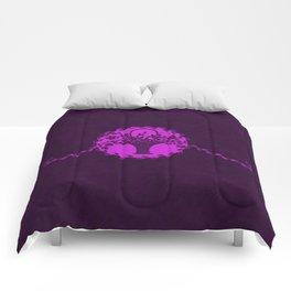 Vintage Floral Dazzling Violet Comforters