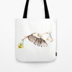 Baby on Bird Tote Bag