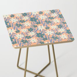 Just Peachy Floral Side Table