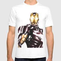 Iron Man White MEDIUM Mens Fitted Tee