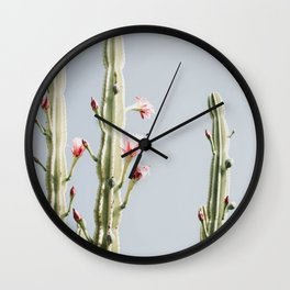 Cereus Cactus Blush Wall Clock