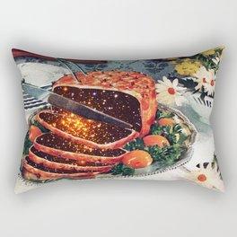 Roast with Mushrooms Rectangular Pillow