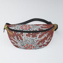 Authentic Aboriginal Art - Bushland Dreaming Fanny Pack