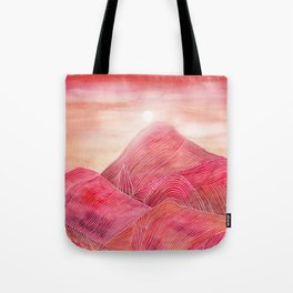 Lines in the mountains XXIII Tote Bag
