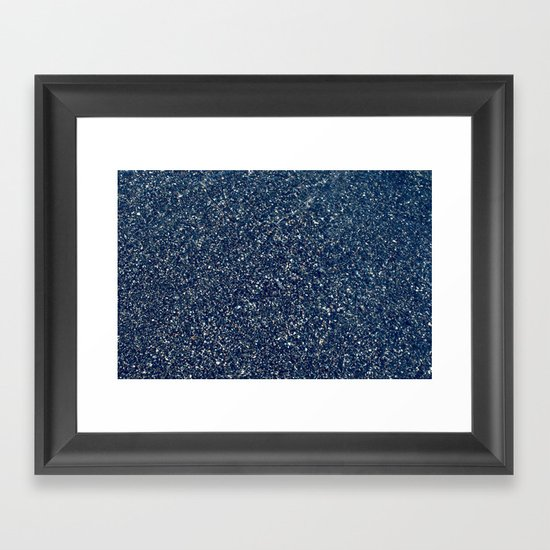 Black Sand II (Blue) Framed Art Print