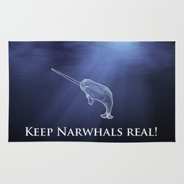Keep Narwhals Real! Rug