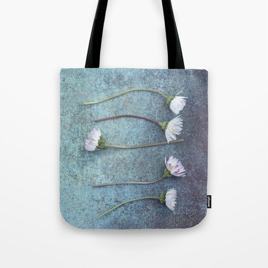 Daisies in a row Tote Bag