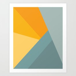Abstract Mountain Sunrise Art Print