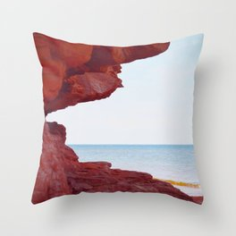 Red Rocks and Sapphire Seas Throw Pillow