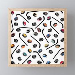 Let's Play Hockey Framed Mini Art Print