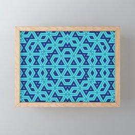 Geometric Ice Blue Pattern Framed Mini Art Print