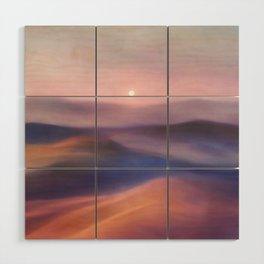 Minimal abstract landscape II Wood Wall Art