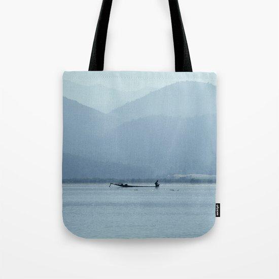 Fisherman on Inle Lake Tote Bag