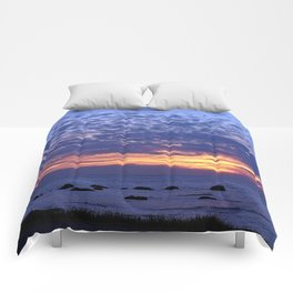 Flaming Clouds Comforters