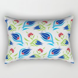 Turkish tulip pattern 7 Rectangular Pillow