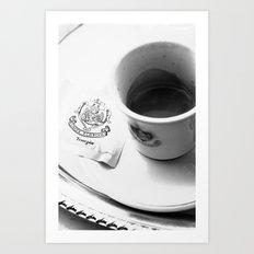 Coffee in Venice Art Print