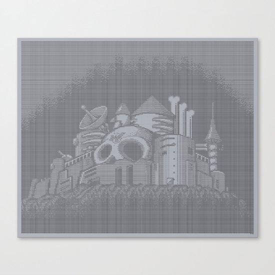 ASCII WILY CASTLE MM2 Canvas Print
