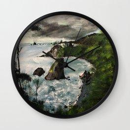 Oregon Coast Acrylic Painting Wall Clock