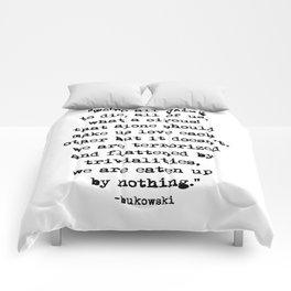 Charles Bukowski Quote Circus Comforters