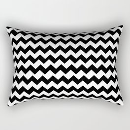 Imperfect Chevron - Black Rectangular Pillow