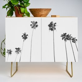 Black & White Palms Credenza