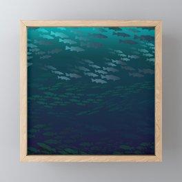 Fish Under The Storm Framed Mini Art Print