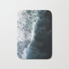 Oceanscape - White and Blue Bath Mat
