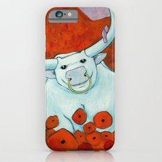 Bull In Poppies iPhone 6s Slim Case