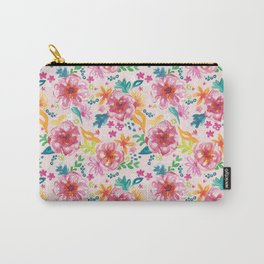 Pink Watercolor Delight Carry-All Pouch
