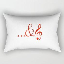 ...and music Rectangular Pillow