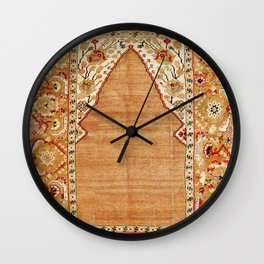 Transylvanian West Anatolian Niche Carpet Print Wall Clock