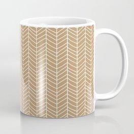 Chevron Light Brown Coffee Mug