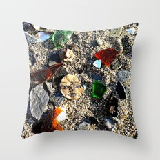 Lady in the Sand Throw Pillow