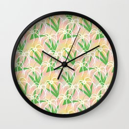 Spider Lily Wall Clock