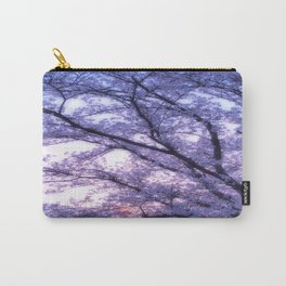 Periwinkle Lavender Flower Tree Carry-All Pouch