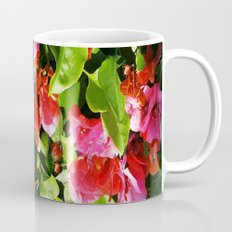 Vibrant pink and red flowers Mug