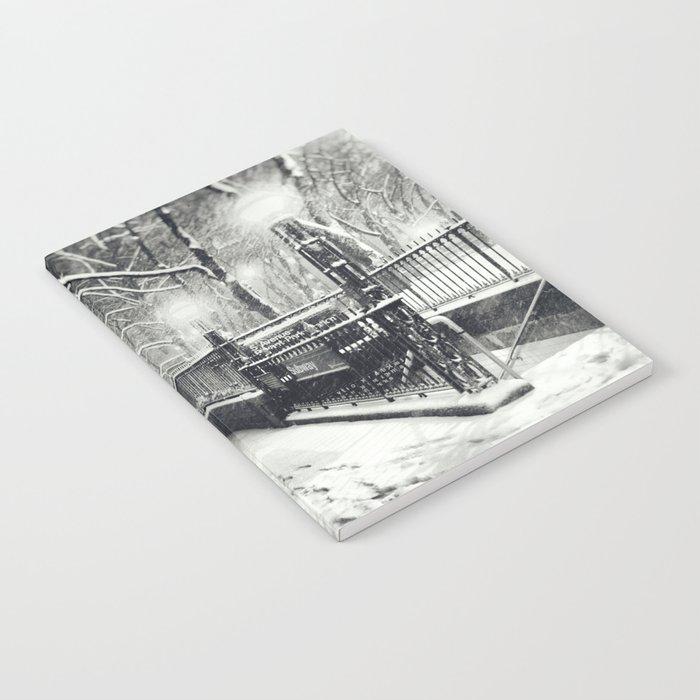 New York City Snow Bryant Park Notebook