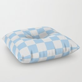 Checkered - White and Baby Blue Floor Pillow