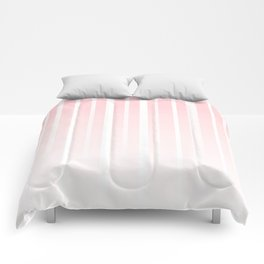 Dissolving Stripes Pattern in Soft Pastel Pink Comforters