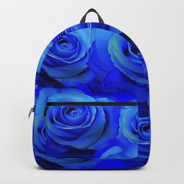 AWESOME BLUE ROSE GARDEN  PATTERN ART DESIGN Backpack